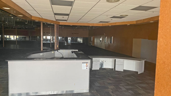 Interior space cleared out at Xsport Fitness Arlington Heights South