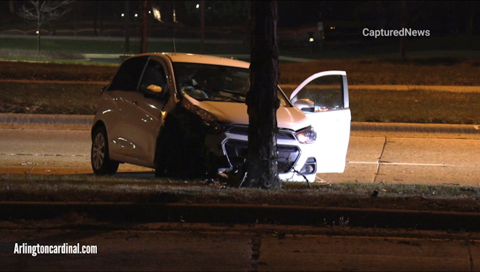 Crash investigation on Lake Cook Road west of Weidner Road in Buffalo Grove.