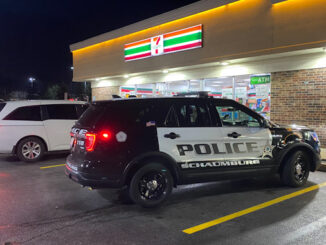 Schaumburg police on scene at an armed robbery crime scene at 7-Eleven