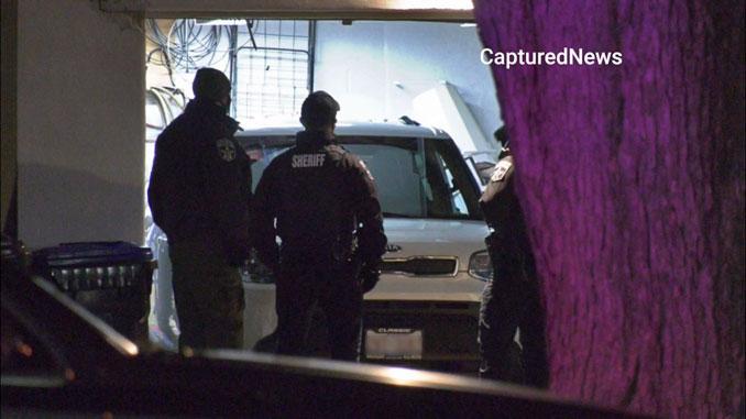 Crime Scene in garage, two shooting deaths on Wadsworth Road in Beach Park on December 8, 2020 (Craig/CapturedNews)