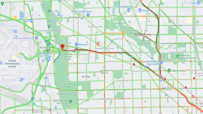 Crash Map I-190 West and and I-90 West Interchange on Monday, December 14, 2020 about 5:30 p.m. (Map data ©2020 Google)