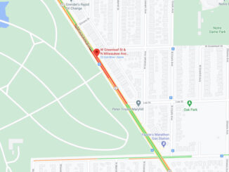 Crash Map at Milwaukee Avenue and Greenleaf Street on Wednesday, December 9, 2020 about 1:45 p.m. (Map data ©2020 Google)