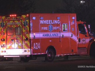 Rollover crash scene at Walmart north driveway (SOURCE: NorthShore Updates)
