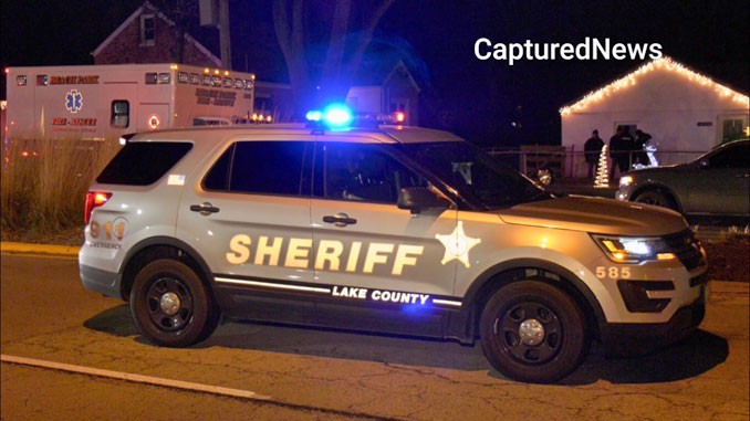 Lake County Sheriff's SUV at crime scene on Wadsworth Road in Beach Park (Craig/Captured News)