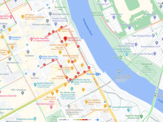 Map Nashville explosion scene December 25, 2020 (Map data ©2020 Nashville Davidson County, Google)
