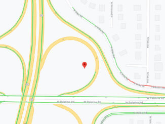 Palatine Road and Route 53 Sunday morning December 27, 2020 (Map data ©2020 Google)