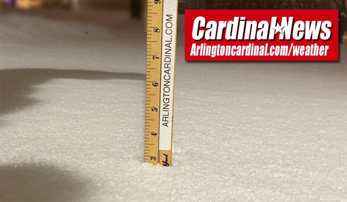 Snowfall 2.75 inches at 6:45 p.m. in Arlington Heights
