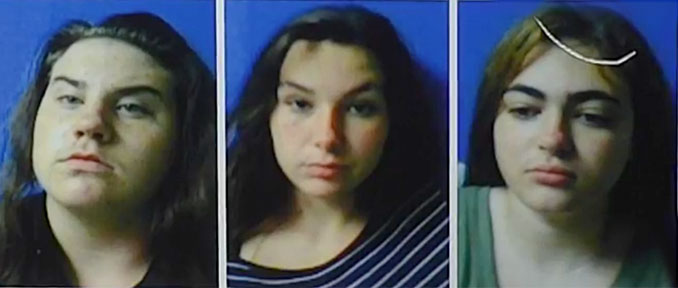 Raven Sutton, 16; Hannah Eubank, 14; Kimberly Stone, 16 -- Teens involved in homicide in Polk City