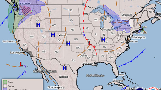 Weather Map Issued 0354ET Dec 08 2020 (SOURCE: National Weather Service DOC/NOAA/NWS/NCEP/Weather Prediction Center/Pagano)