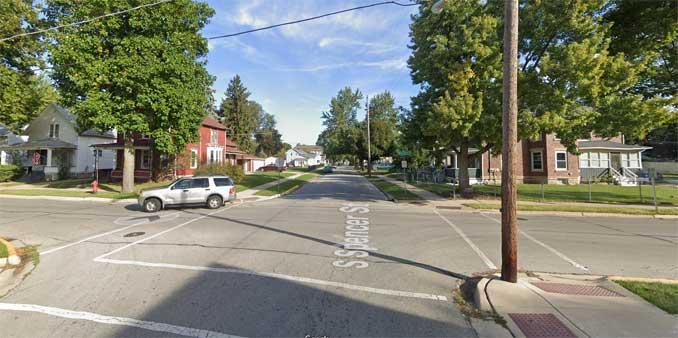 300 South Spencer Street Aurora, Illinois (Image capture: October 2018 2021 Google)
