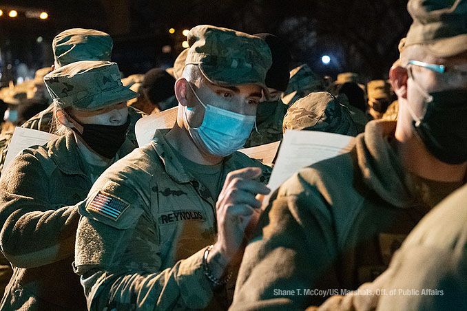 US Marshal deputation of National Guard service members on Monday, January 18, 2021 (Shane T. McCoy US Marshals Public Affairs)