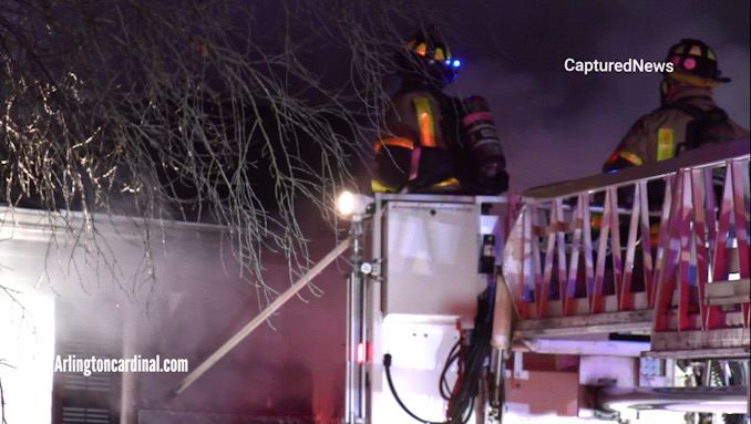 House fire on Ivy Lane near Arlington Heights Road in Arlington Heights