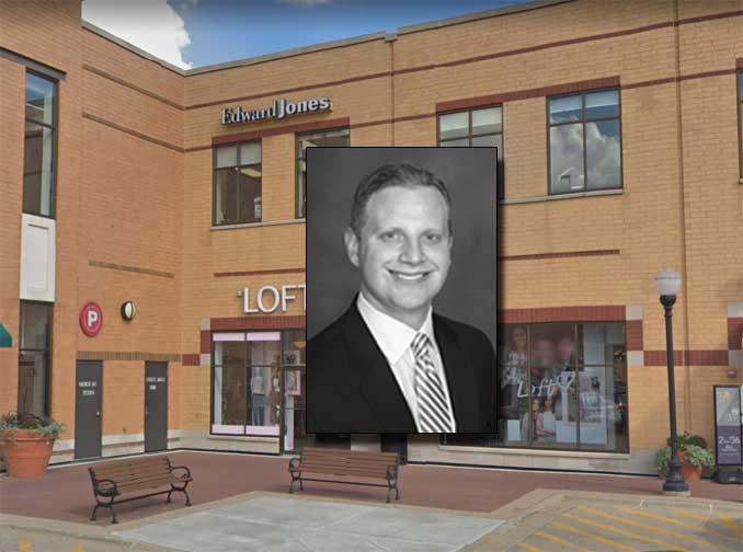 Brian Mueller at Edward Jones, 21 South Evergreen Avenue in Arlington Heights (Google Street view Image capture October 2018 ©2021 2021)