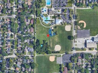 Centennial Park Sledding Hill (Imagery ©2021 Maxar Technologies, Sanborn, U.S. Geological Survey, USDA Farm Service Agency, Map data ©2021 Google)