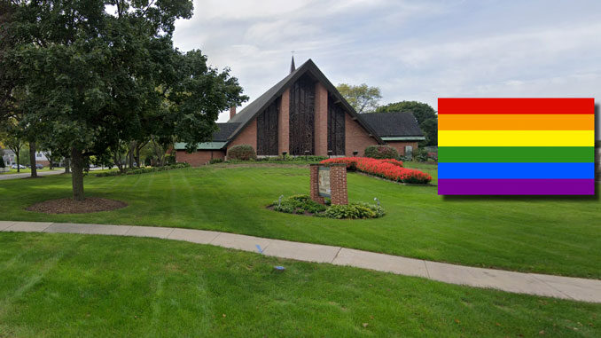 First United Methodist Church of Arlington Heights Pride Flag