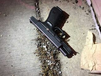 Suspect's handgun recovered in Evanston (SOURCE: Evanston Police Department)