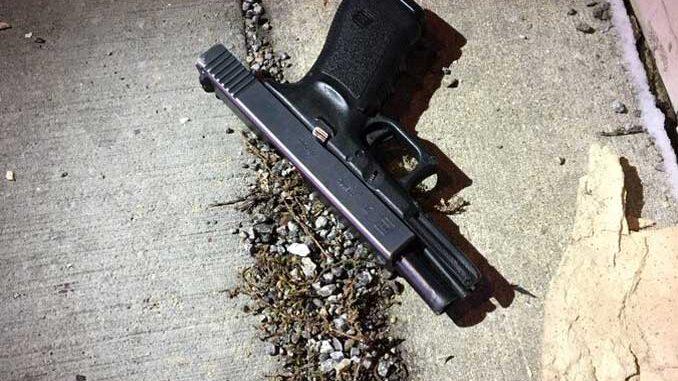 Suspect's handgun recovered in Evanston (SOURCE: Evanston Police Department)