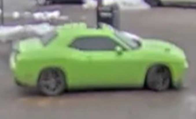 Bank robbers connect to lime green Dodge Challenger (FBI Chicago)