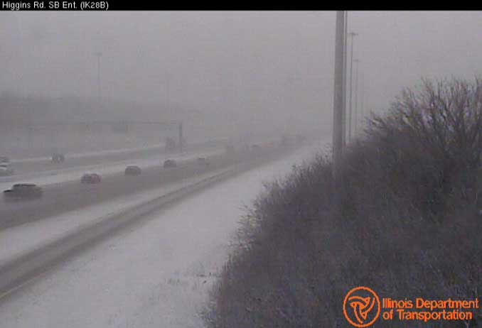 Road conditions on IL-53/I-290 south of Higgins Road near Schaumburg and Elk Grove Village
