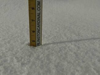 Snowfall accumulations 4.5 inches at 7:00 a.m. Tuesday, January 26, 2021
