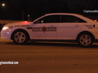 Illinois State Police at the scene of a fatal crash on northbound Route 53 over Kirchoff Road in Rolling Meadows