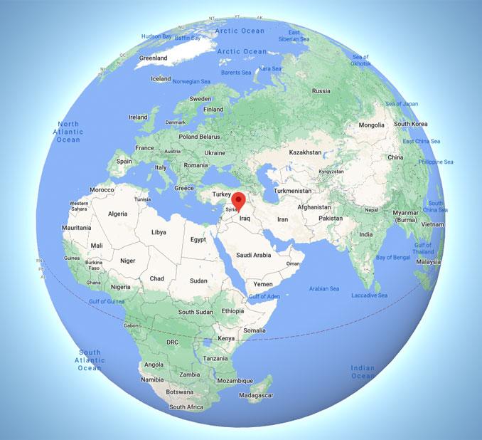 Al Bukamal, Syria (Map data ©2021 Google, INEGI)
