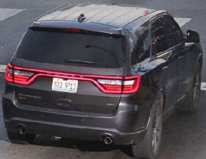 Carjacked Dodge Durango with Illinois Plate S33 9713