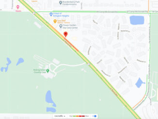 Crash scene map 2430 East Rand Rand Road, Arlington Heights (Map data ©2021 Google)