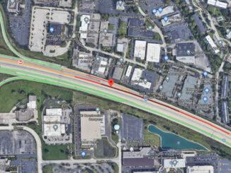 Crash Map I-90 West near IL-53 on Saturday, February 27, 2021