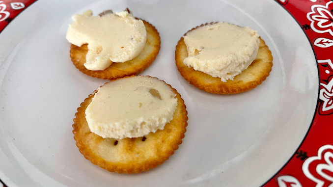 Swiss almond cheese and crackers