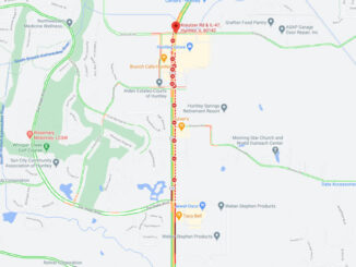 Fatal crash map on Route 47 in Huntley on February 8, 2021 (Map data ©2021 Google)