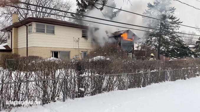 House Fire C-Side at fatal fire in Arlington Heights Thursday, February 4, 2021