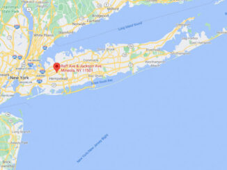 Map of Long Island Raffe Avenue/Jackson Avenue and Roslyn Road (Map data ©2021 Google)