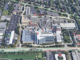 Northwest Community Hospital aerial view (Imagery ©2021 Google, Imagery ©2021 Maxar Technologies, U.S. Geological Survey, USDA Farm Service Agency, Map data ©2021)