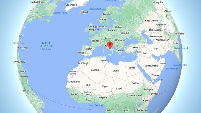 Ancient City of Pompeii near Pompei globe (Map data ©2021 Google, INEGI)