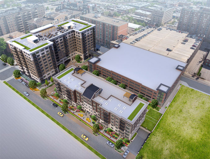 Arlington 425 plans in 2021 (view looking northeast/Norwood Builders)
