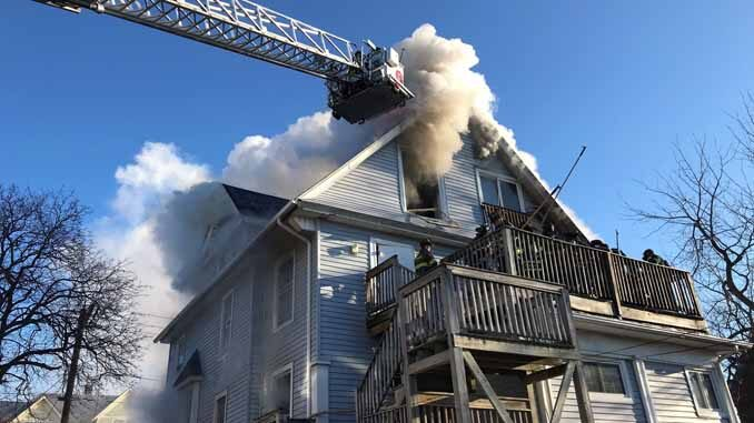 Aurora Tower 6 at Downer Place fire on Tuesday, March 2, 2021