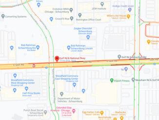 Crash map Golf Road National Parkway Schaumburg (Map data ©2021 Google)