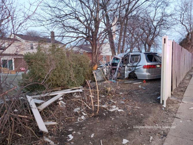 Fatal crash at Algonquin Road west of Kennicott Avenue (SOURCE: Arlington Heights Police Department)