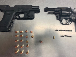 Guns, ammunition, and magazine with Parolee (SOURCE: Lake County Sheriff's Office)