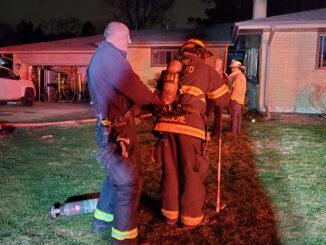 House fire in unincorporated Glen Ellyn (PHOTO CREDIT: Lisle-Woodridge Fire District)