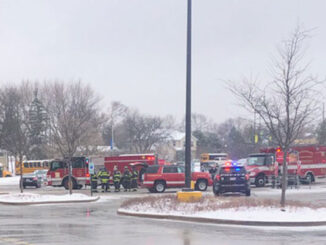 Smoke investigation for malfunctioning HVAC rooftop unit at Jewel-Osco on Roselle Road near Wise Road in Schaumburg