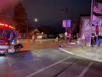 Single-vehicle fatal crash scene at Main Street and Lyons Drive in Lake Zurich (SOURCE: Village of Lake Zurich)