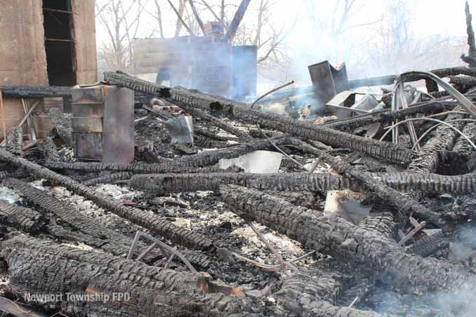 Newport Township barn ruins (SOURCE: Newport Township Fire Protection District)