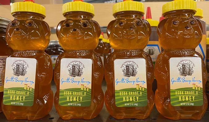Gentle Breeze Honey USDA Grade A Honey in bear bottle