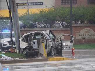 Minivan involved in fatal crash at Route 12 and Deer Park Boulevard in Deer Park (SOURCE: Jimmy Bolf).