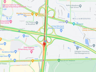 Crash Map IL-53 over I-90 (Map data ©2021 Google)
