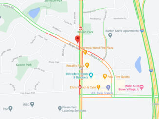 Crash Map Nerge Road and Rohlwing Road in Elk Grove Village (Map data ©2021 Google)