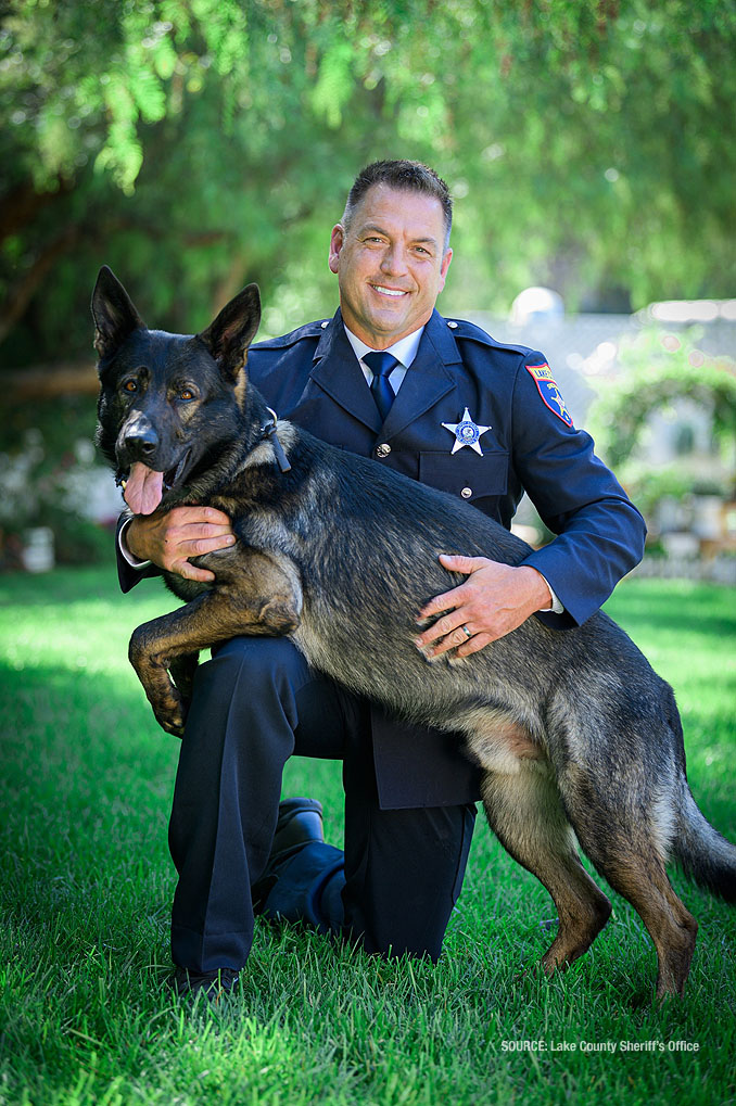 Deputy John Forlenza and K9 Dax (SOURCE: Lake County Sheriff's Office)