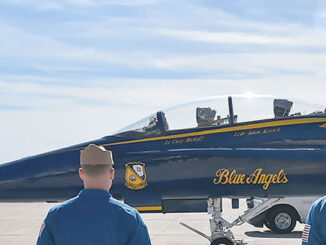 Blue Angels F-18 Hornet Legacy and crew from the 2019 Season